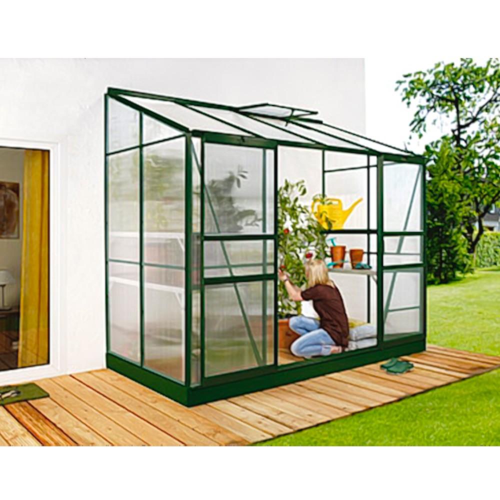 ida 3300 anlehngew chshaus hkp 4 mm balkon gew chshaus 3 3 m mit fundament neu. Black Bedroom Furniture Sets. Home Design Ideas