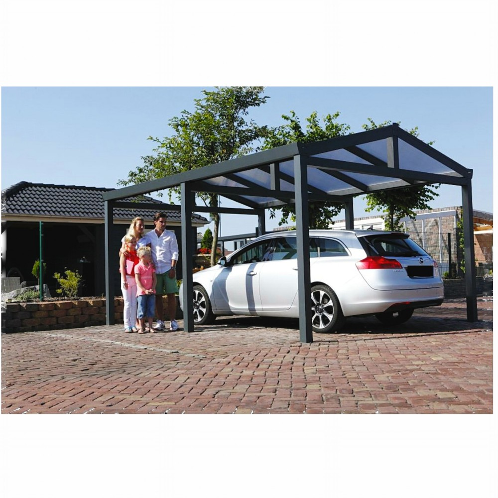 aluminium carport satteldach 368 x 500 cm berdachung auto stellplatz. Black Bedroom Furniture Sets. Home Design Ideas