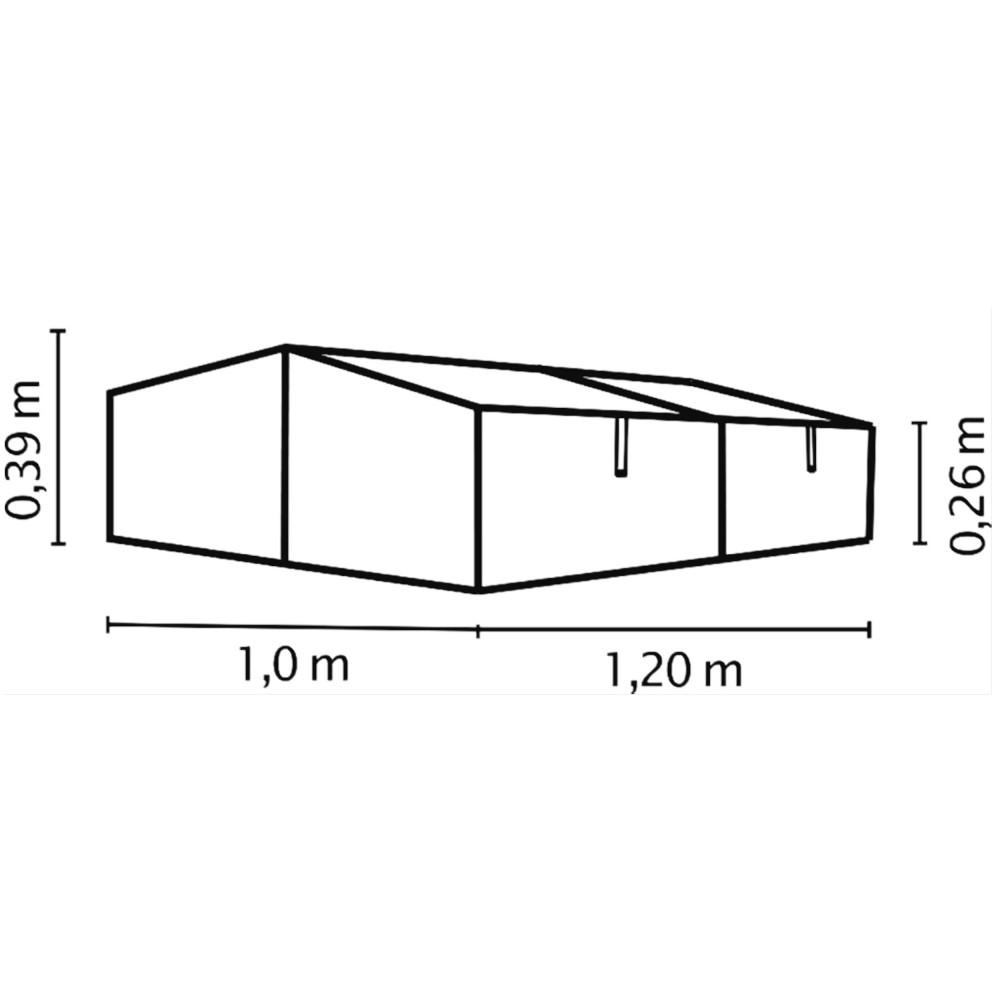 gaia 2x fr hbeet mini gew chshaus anzuchtbox 1 2 m hohlkammerplatten 4 mm. Black Bedroom Furniture Sets. Home Design Ideas
