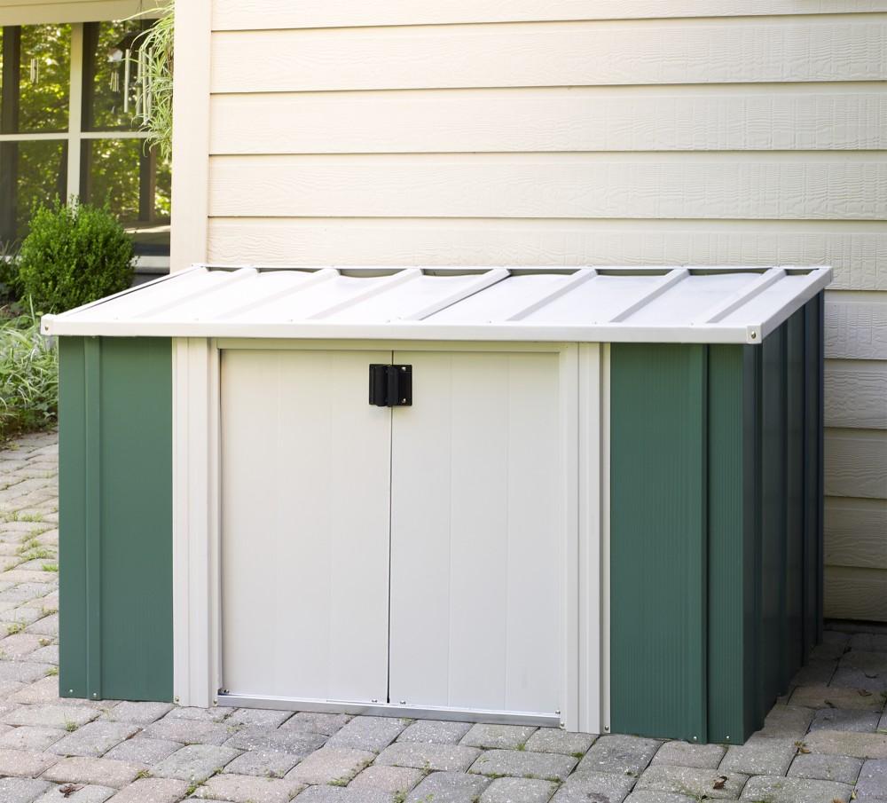 arrow metall ger tebox n rnberg tanne creme gartenbox. Black Bedroom Furniture Sets. Home Design Ideas