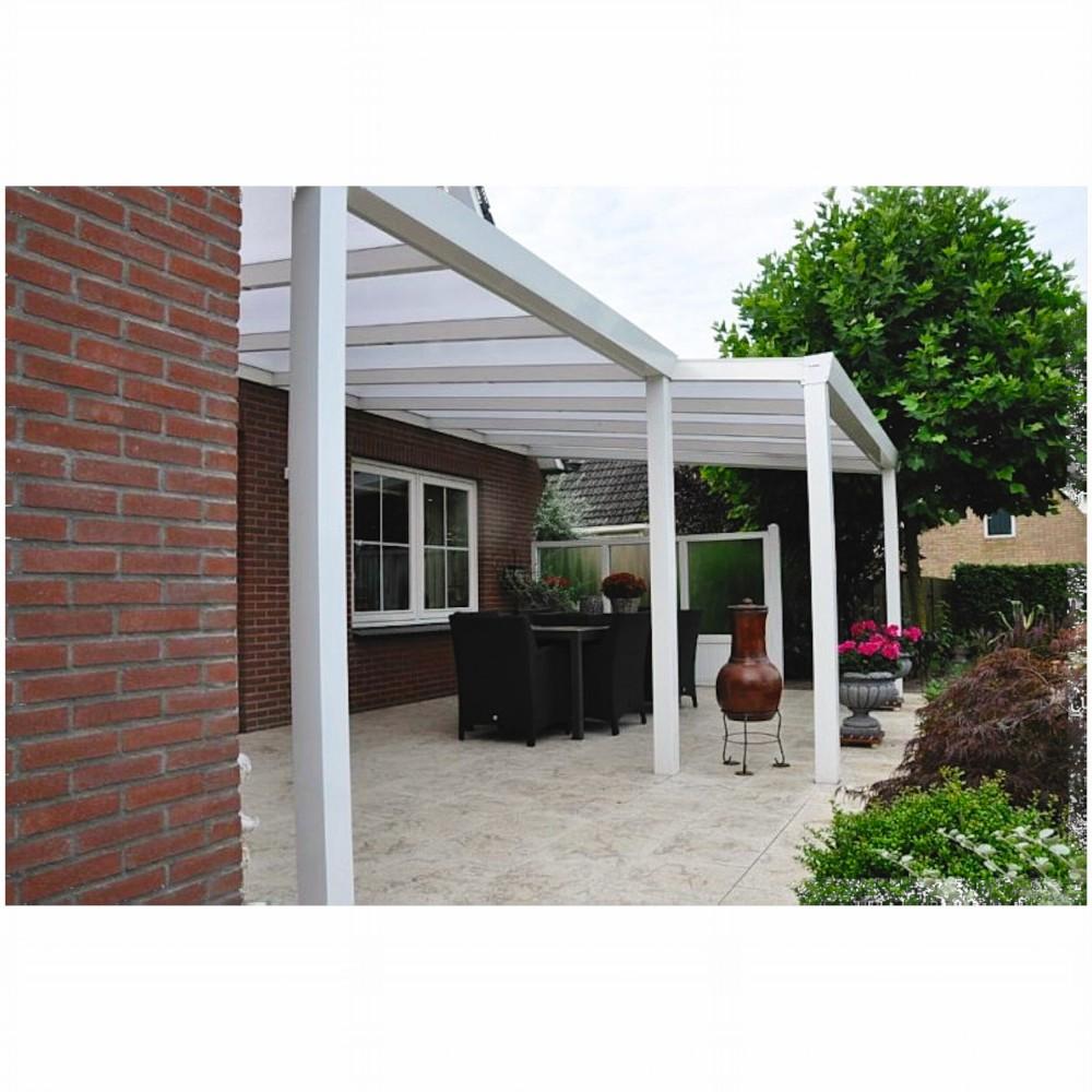 terrassen berdachung aluminium 400 x 350 cm mit polycarbonat stegplatten 16 mm dacheindeckung. Black Bedroom Furniture Sets. Home Design Ideas