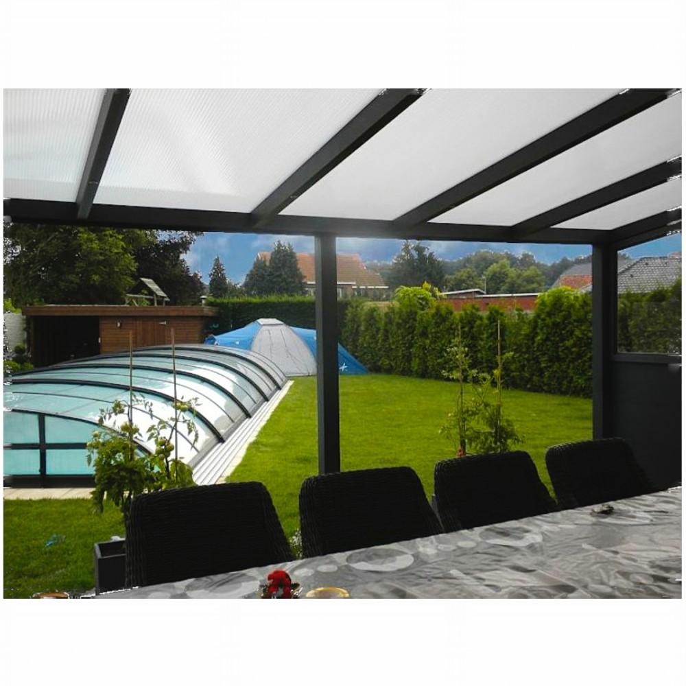 terrassen berdachung aluminium 700 x 350 cm mit. Black Bedroom Furniture Sets. Home Design Ideas
